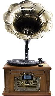 MUSIC Reproductor de Discos de Vinilo, Tocadiscos de fonógrafo ...
