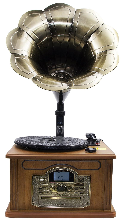 Nostalgie Retro Tocadiscos | Minicadena | equipo estéreo | Cadena Musical | Gramófono | retr Oana Situación | Gramófono | Bluetooth, Radio, ...