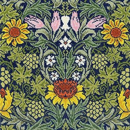 2a53cf8bea4a Bothy Threads Cross Stitch Kit - William Morris Sunflowers XAC4:  Amazon.co.uk: Kitchen & Home