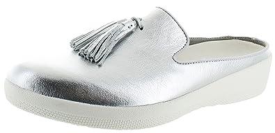 3931708c8f8c7 Fitflop Womens Superskate Slip Ons Tassel Mule Shoes
