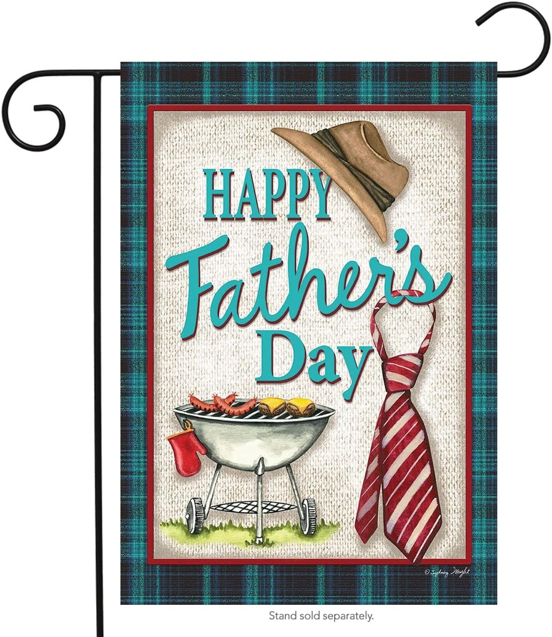 """Briarwood Lane Happy Father's Day Grillin' Garden Flag Hat and Tie Holiday 12.5"""" x 18"""""""