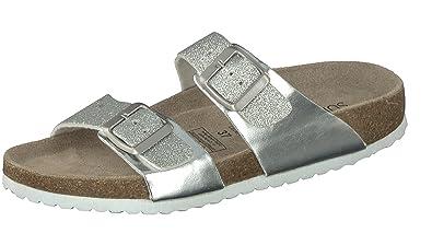Supersoft Damen 274 659 Pantoffeln, Silber (Silver), 41 EU