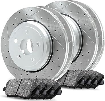 Ceramic Brake Pads Fit 2004-2006 Audi A8 Quattro Rear Drill Slot Brake Rotors