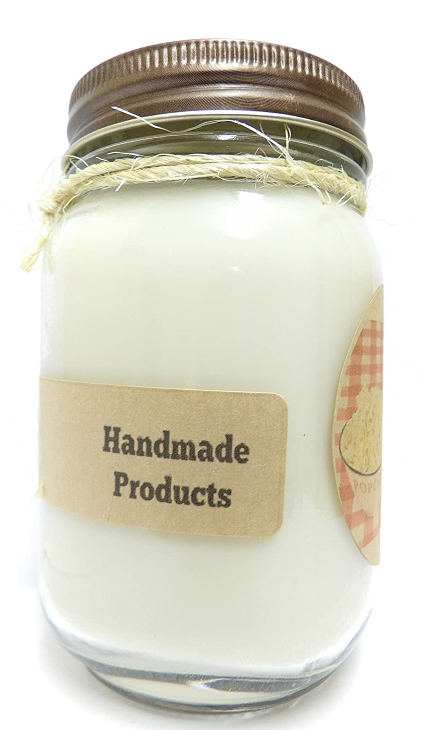 Amazon.com: Hot Buttered Popcorn 16oz Country Jar Soy Candle - Handmade in Rolla Missouri: Home & Kitchen