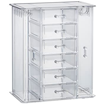 Amazoncom Beautify Clear Acrylic Jewelry Organizer ChestMakeup