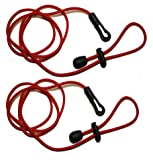 Paddle Leash - TWIN PACK - Fantastic Value- Perfect for Kayaking Canoeing and also Fishing Rod tether