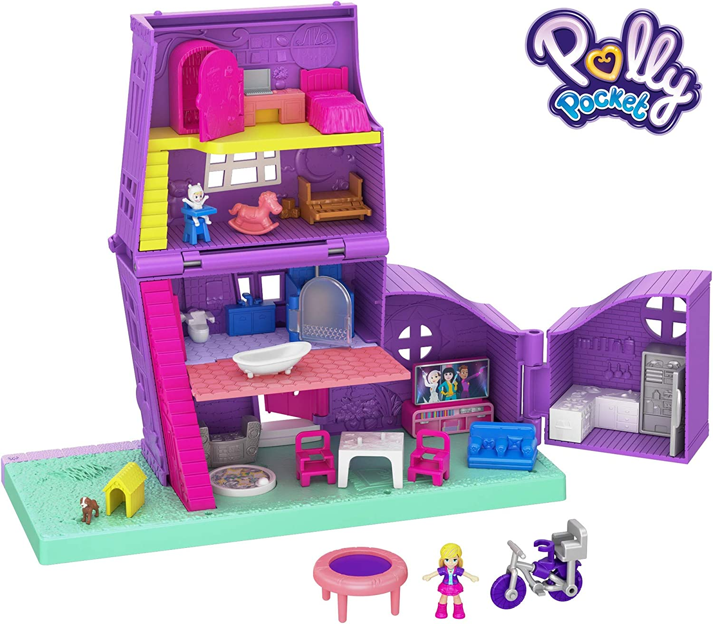 Polly Pocket Casa de muñecas de juguete con accesorios (Mattel GFP42)