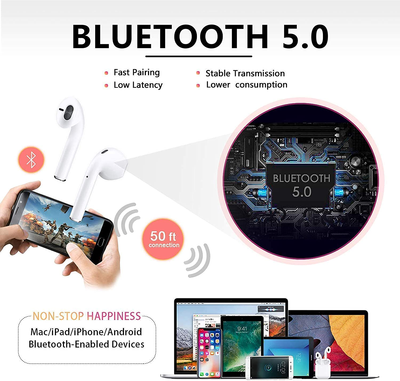 Funk-Kopfhrer Bluetooth Kopfhrer 5.0,Stereo-Mini Kabellose ...