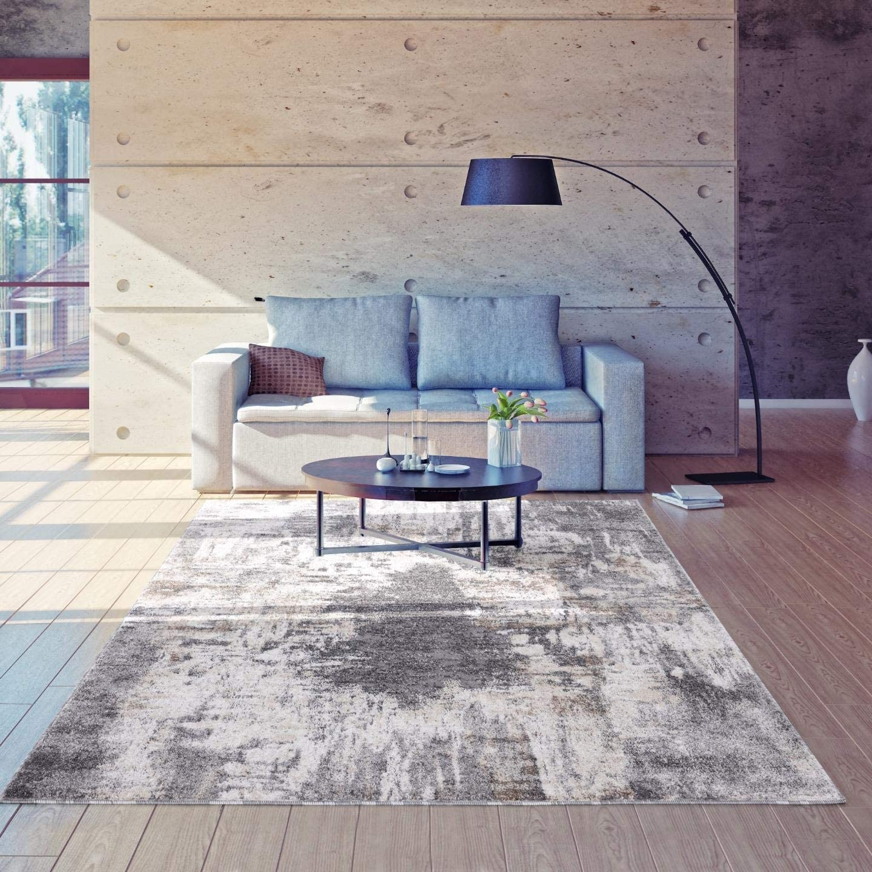 Luxe Weavers Euston Gray 5 x 7 Abstract Modern Area Rug