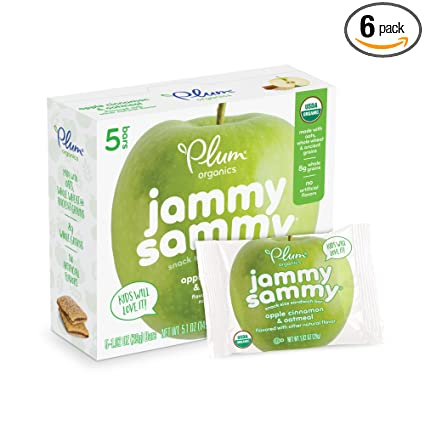 Plum Kids Organic Jammy Sammy, 5 unidades (Paquete de 6 ...