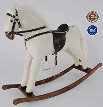 Mjmark Albino Handmade Rocking Horse Titan V From Amazoncouk
