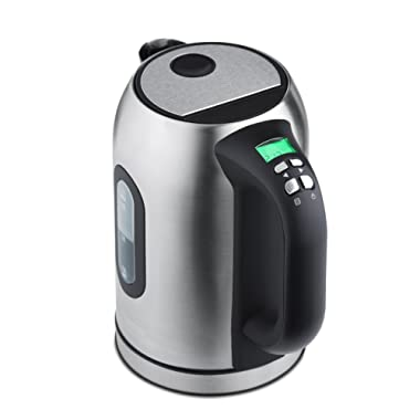 Kenmore 30428 Electric Tea Kettle with Digital Display in Stainless Steel