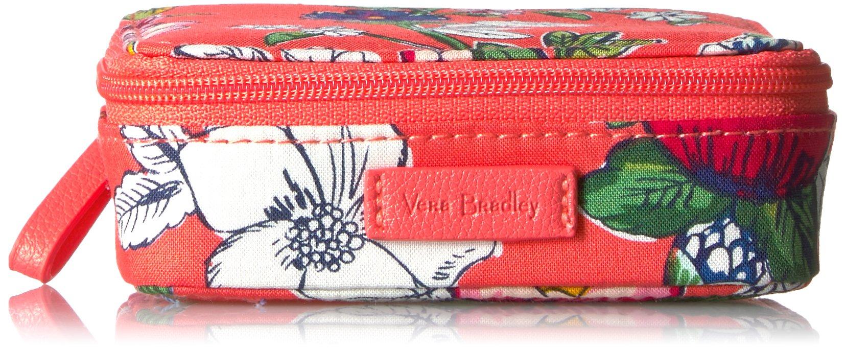 Vera Bradley Women's Iconic Travel Pill Case - Signature, Coral Floral
