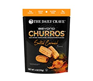 The Daily Crave Beyond Churros, Salted Caramel, 4 Oz (Pack Of 6) Plant Based Protein, Dairy and Soy-Free, Gluten-Free, Non-GMO, Vegan