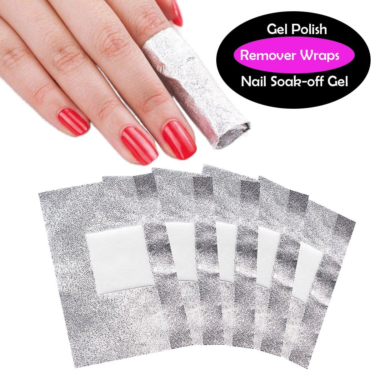 Amazon.com : Makartt Nail Polish Remover Soak Off Gel Foils Nail ...