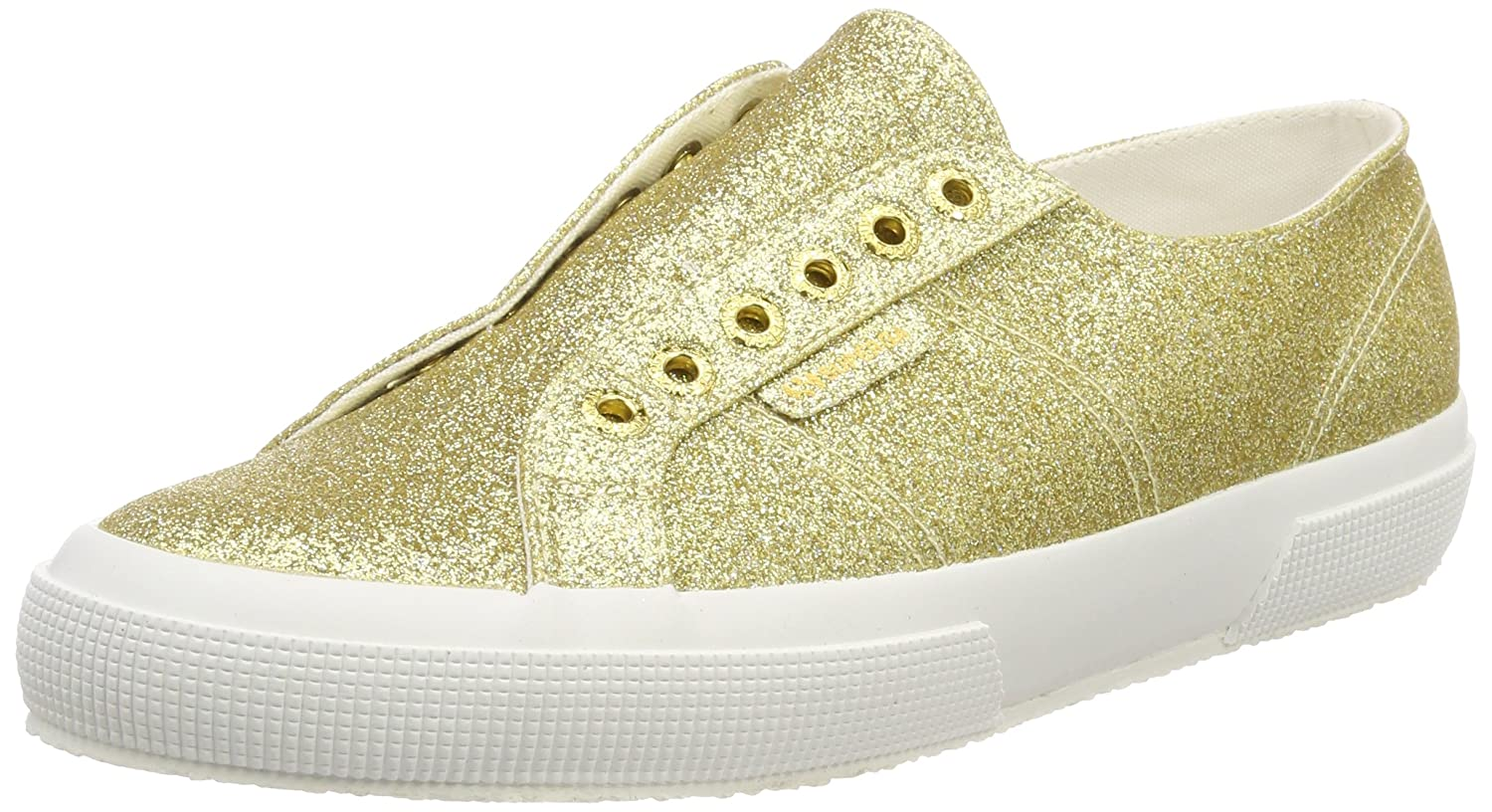 Superga 2750 Microglitterw Sneaker Donna Oro Orange Gold 174 38 EU