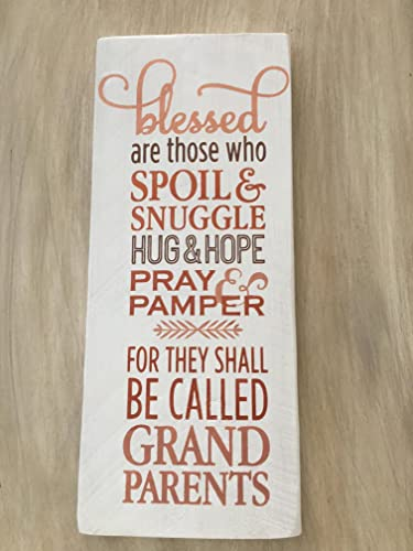 Amazoncom Handpainted Sign Blessed Aregrandparents Gift For