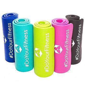 Esterilla para fitness »Jivan« / EXTRA gruesa y suave (2cm!) / perfecta para pilates, gimnasia y yoga / Colchoneta de yoga / estera de deporte / ...