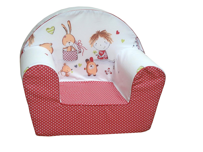 knorr-baby 490166 Kinder-Sessel Spielzimmer, rot (sortiert)