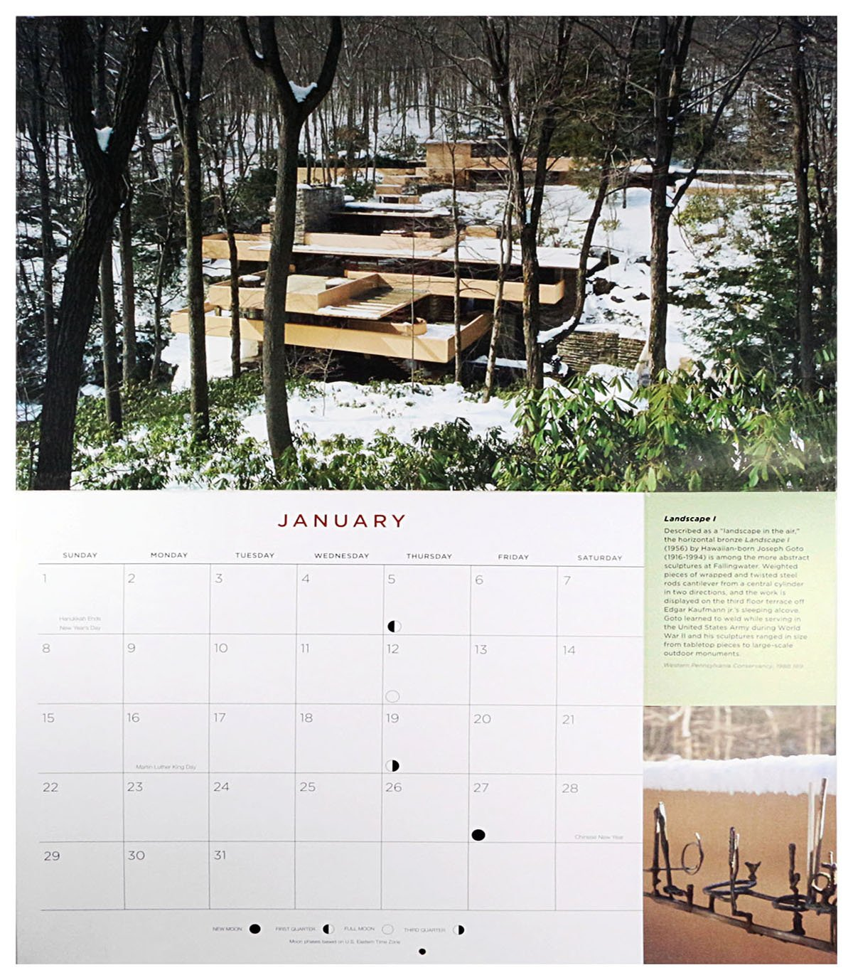 amazon com frank lloyd wright fallingwater 2017 wall calendar