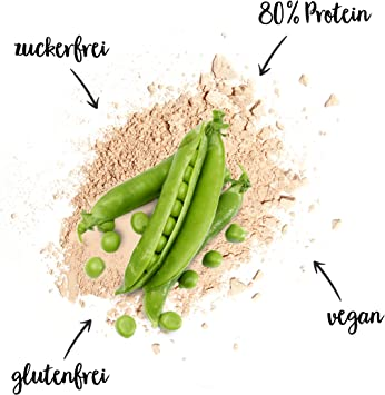 nu3 Proteína de guisantes 800g – 24 g de proteína por porción - Proteína vegana sin azúcar, lactosa y gluten - Aislado de proteína vegetal en polvo - ...