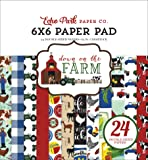 Echo Park Paper Company DO182023 Down On The Farm 字样 15.24 x 15.24 cm 纸,蓝色,黄色,*