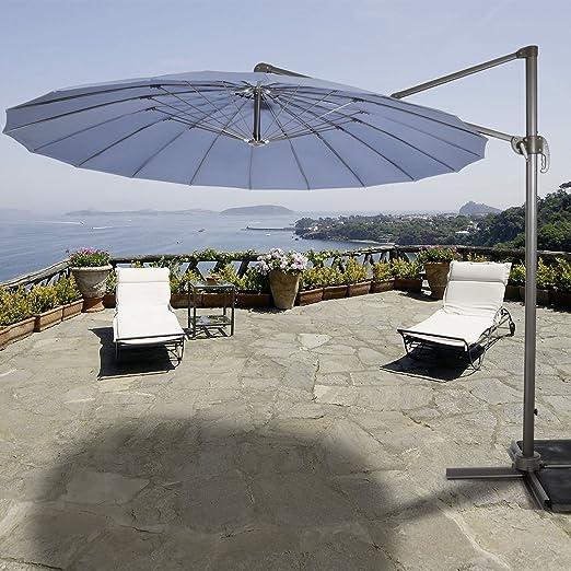 Sombrilla Shanghai – Sombrilla jardín pantalla color gris Trend ysho P365: Amazon.es: Jardín
