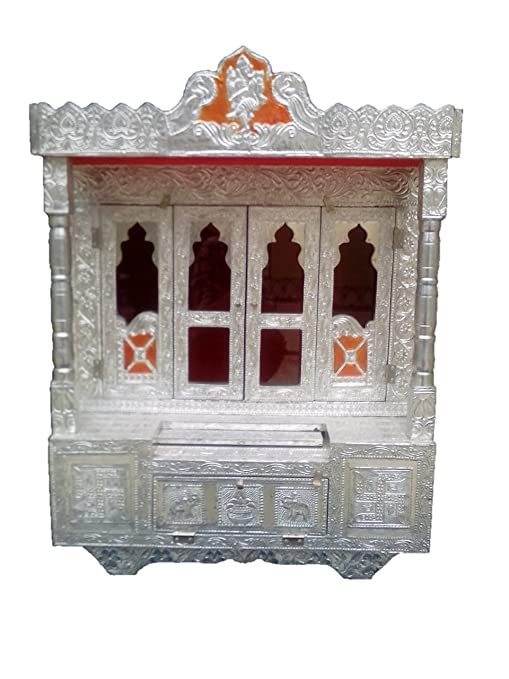 Amazon Com Dinesh Handicraft Aluminium Pooja Mandir Temple