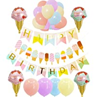 Ice Cream Themed Party Decorations for Girls and Boys: 1 Happy Birthday Banner,1...