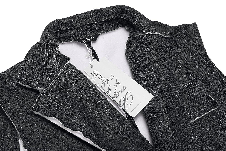 COOFANDY Mens Suede Leather Suit Vest Casual Western Vest Jacket Slim Fit Vest Waistcoat ZSJ007180