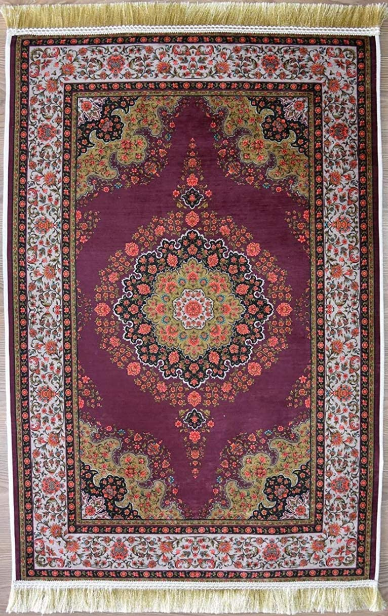 Area Rug Muslim Prayer Rug Elegant Turkish Rug Double Layers Printed Prayer mat