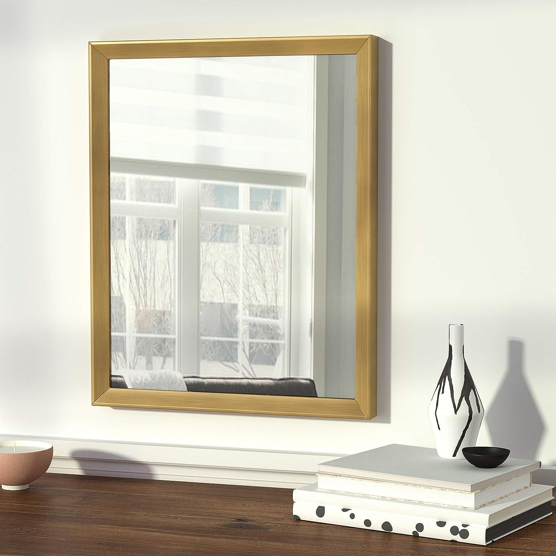 40,6 x 50,8 cm marco est/ándar blanco Basics Espejo para pared rectangular