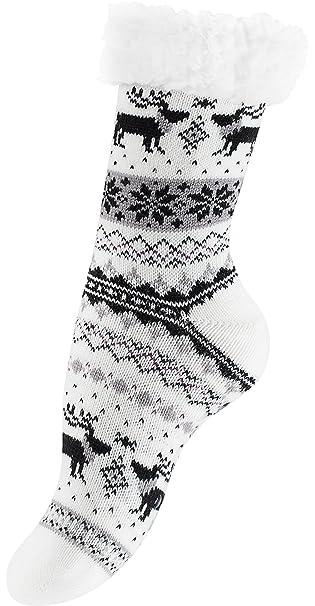 Calcetines de grueso lana con piel, Calcetines térmicos: Amazon.es: Ropa y accesorios