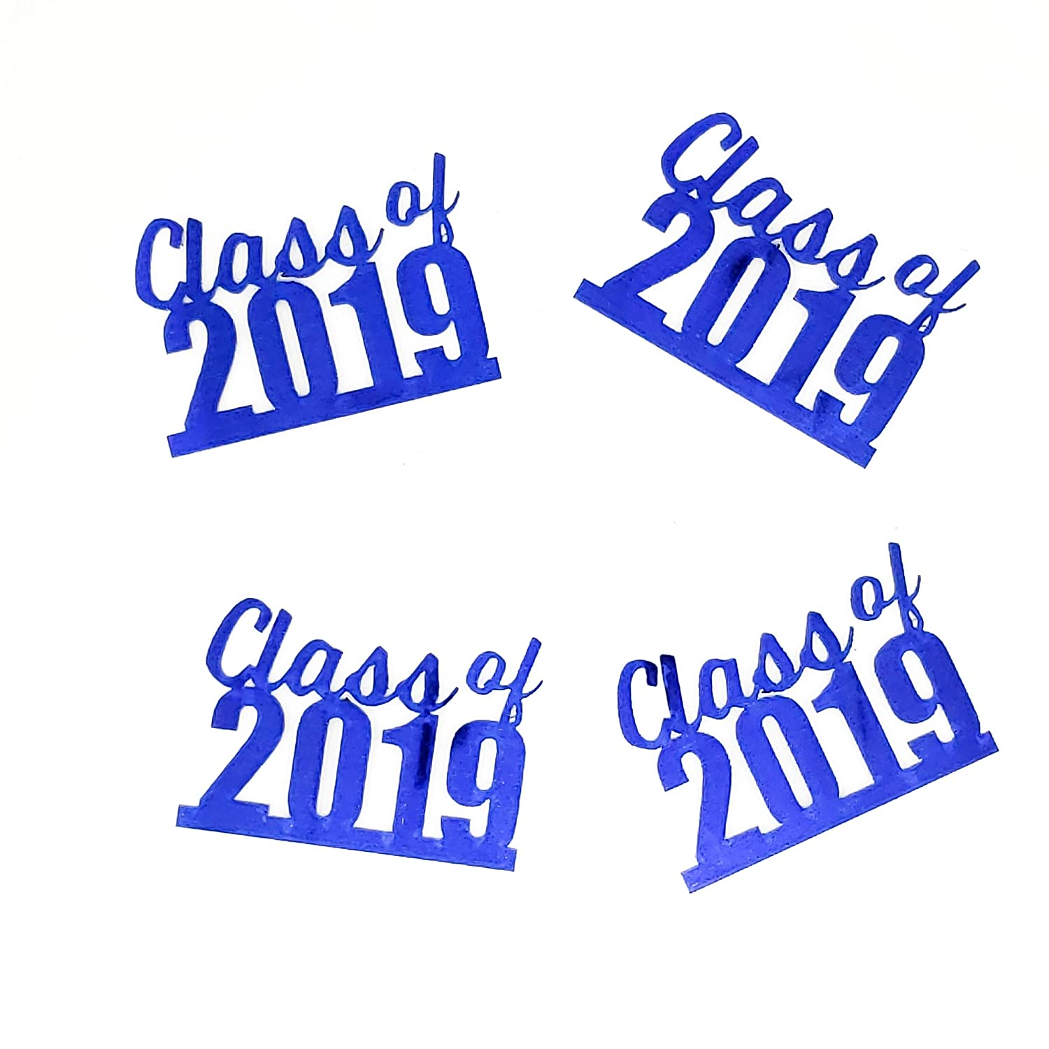 #6421 CLASS OF 2019 36 pcs Custom Confetti Metallic Colors Metallic Shape Also Available in Paper
