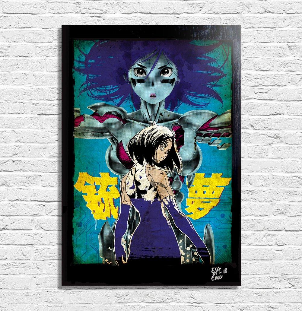 Battle Angel Alita (Gunnm, Y. Kishiro) - Original Gerahmt Fine Art ...