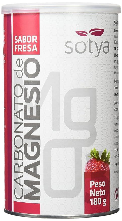 SOTYA - Carbonato de Magnesio, sabor fresa, bote 180 gr