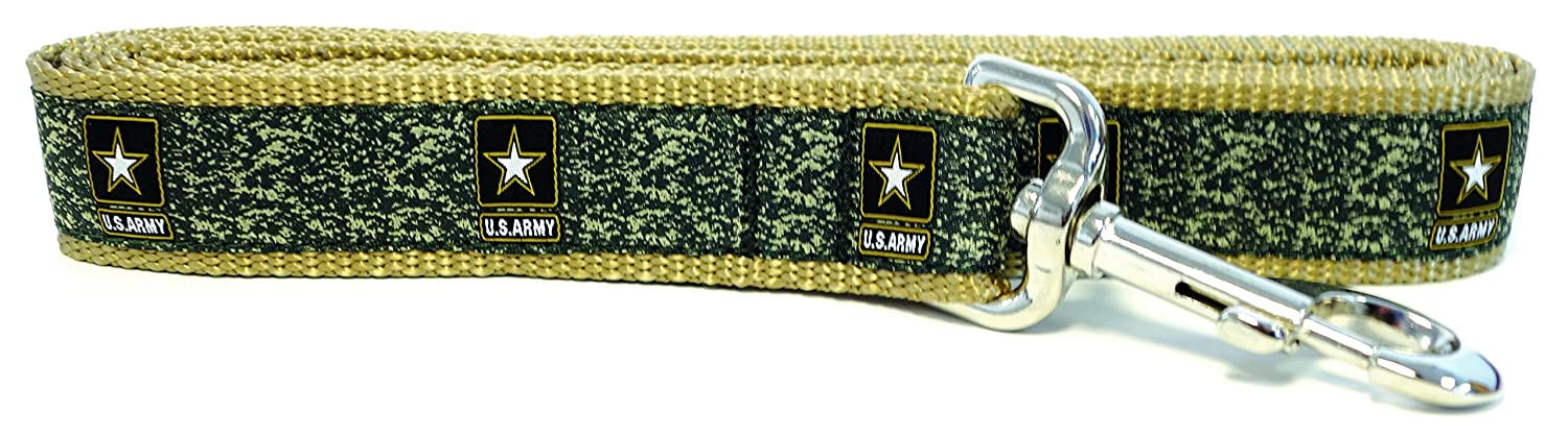 Army MEDIUM LARGE Dogs, 1 1 4 Inch Army MEDIUM LARGE Dogs, 1 1 4 Inch Son Sales, Inc. United States Military Logo Dog Leash (Medium Large Dogs, 1 1 4 Inch, Army)