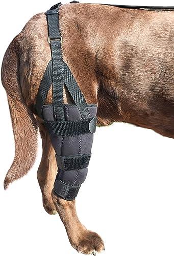 Labra-Dog-Canine-K9-Knee-Stifle-Brace-Wrap-Metal-Splint-Hinged-Flexible-Support-Treat