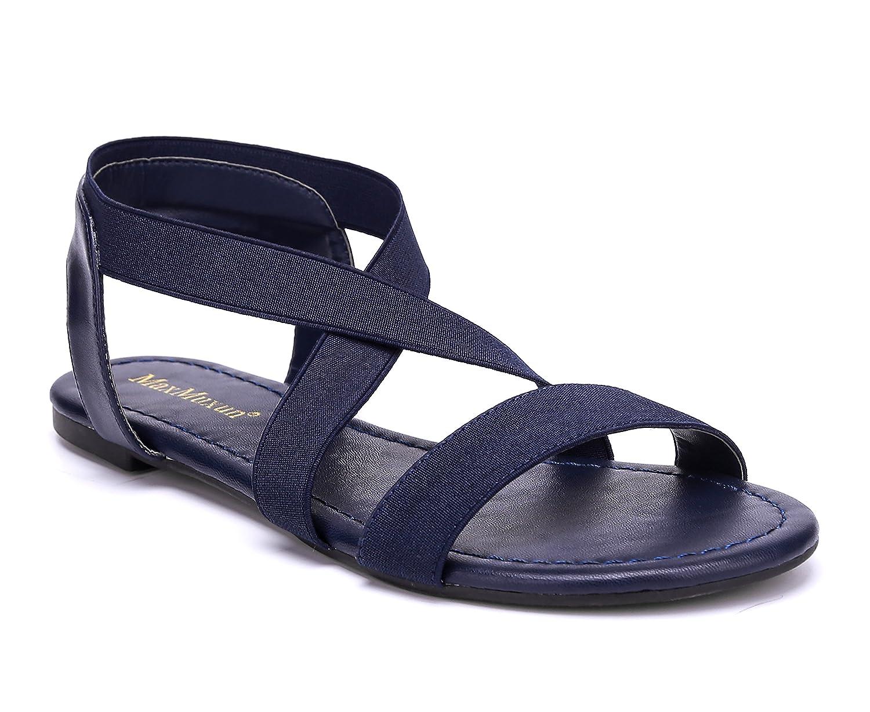 MaxMuxun Damen Elastischen Sommer Sandalen  38 EU|Blau