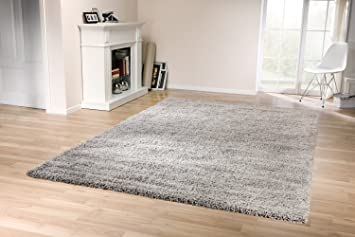 Grauer teppich  Tara Shaggy Teppich (Grau, 160x230cm): Amazon.de: Küche & Haushalt