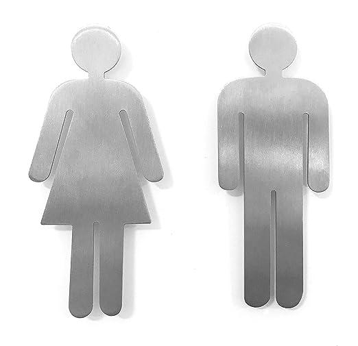 Juego de placas para puertas de servicio de Hombre y Mujer ...