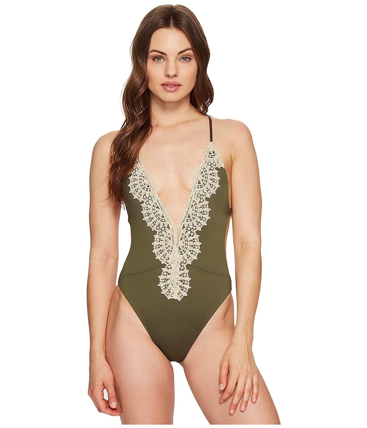 d95b59910b8 Blue Life Eclipse One Piece Swim Suit Fern (SM) at Amazon Women's Clothing  store: