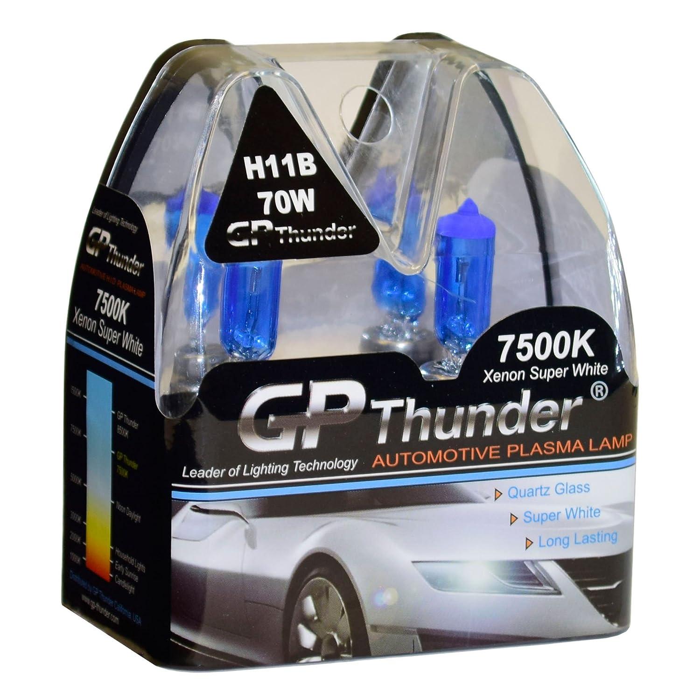 2 Bulbs GP Thunder GP75-H11B 7500K H11B 12V 70W Halogen Xenon Super White Color W//QUAZE Glass