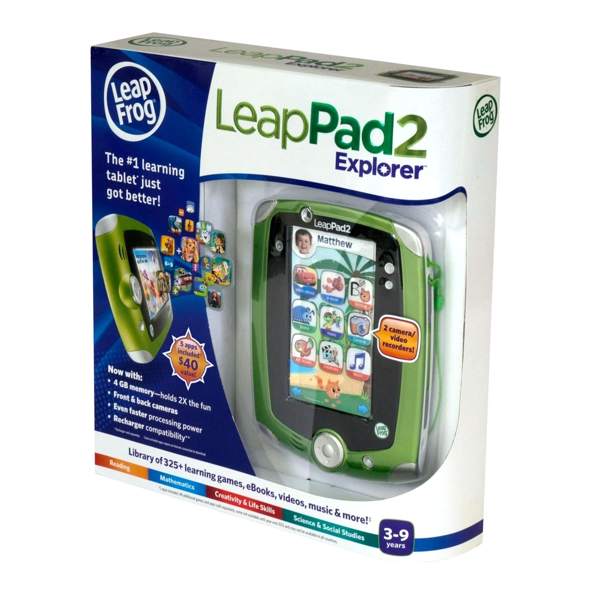 LeapFrog LeapPad2 Explorer Kids' Learning Tablet, Green by LeapFrog (Image #11)