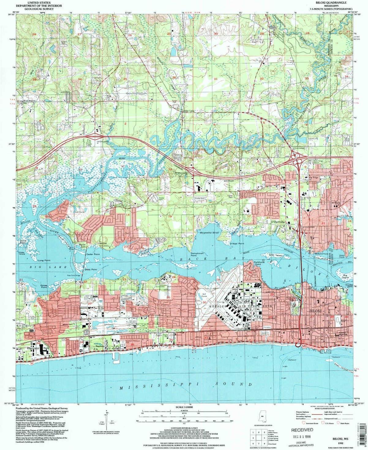 Amazon Com Yellowmaps Biloxi Ms Topo Map 1 24000 Scale 7 5 X