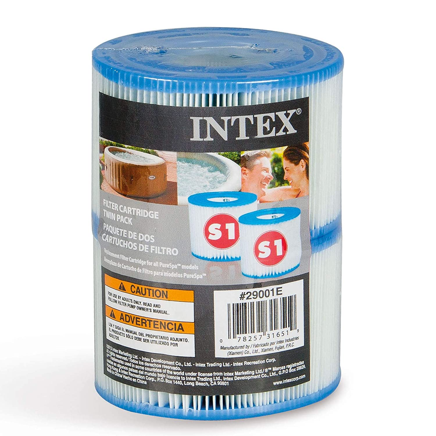 Intex Type S1 Filter Cartridge for PureSpa Twin Pack