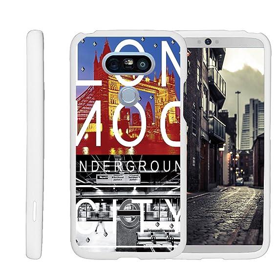 MINITURTLE Case Compatible w/ LG G5 White Phone Case w/ Design, Perfect Slim