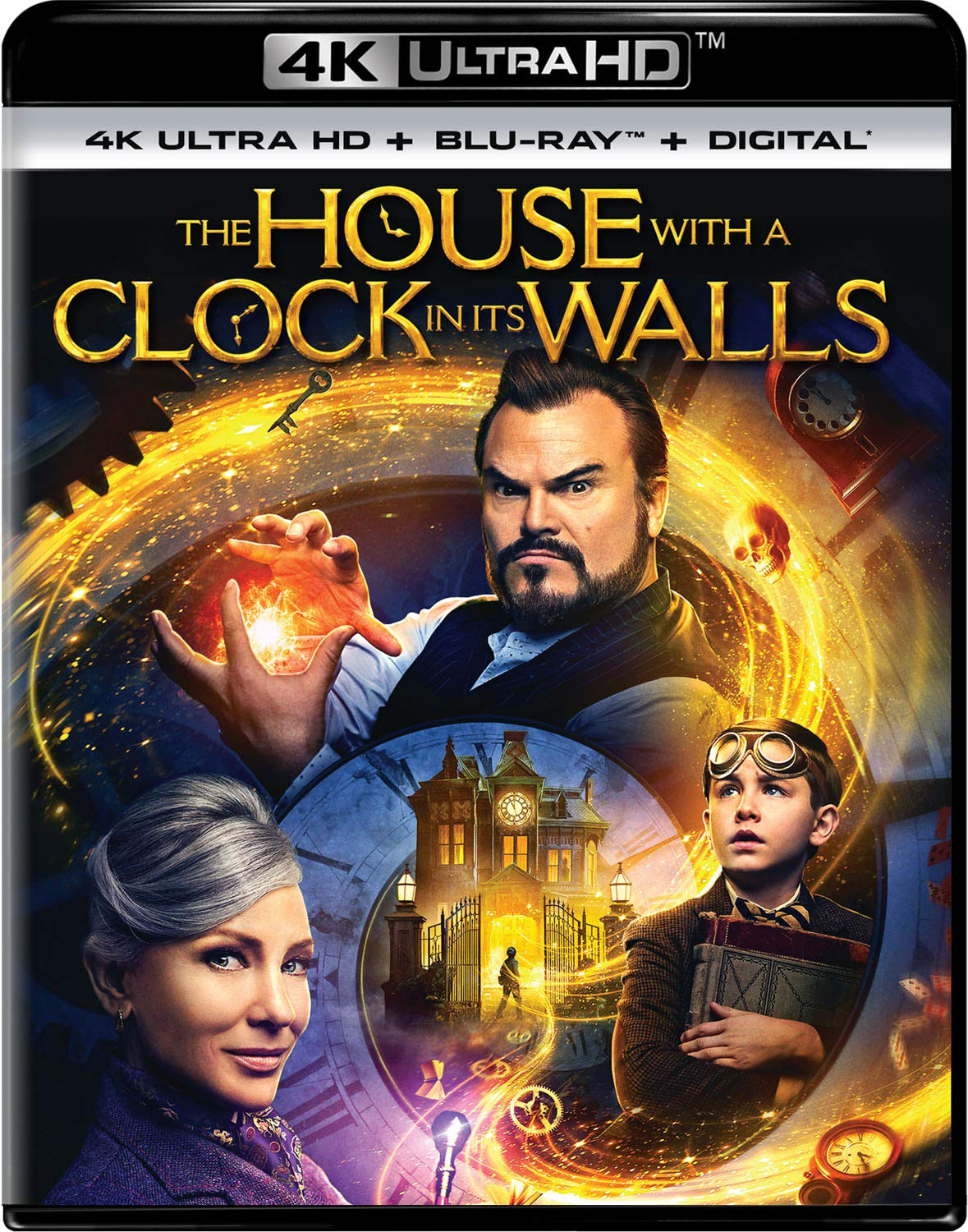 4K Blu-ray : The House With A Clock In Its Walls (With Blu-ray, 4K Mastering, 2 Pack, Digital Copy)