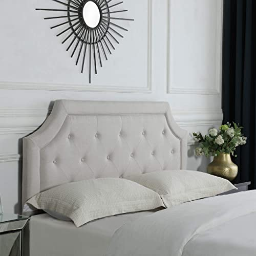 FirsTime Co. FirsTime Kelsey Beige Linen Headboard Full/Queen