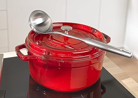 Staub 1101806 - Cocotte redonda, color rojo cereza, tamaño 18 cm: Amazon.es: Hogar